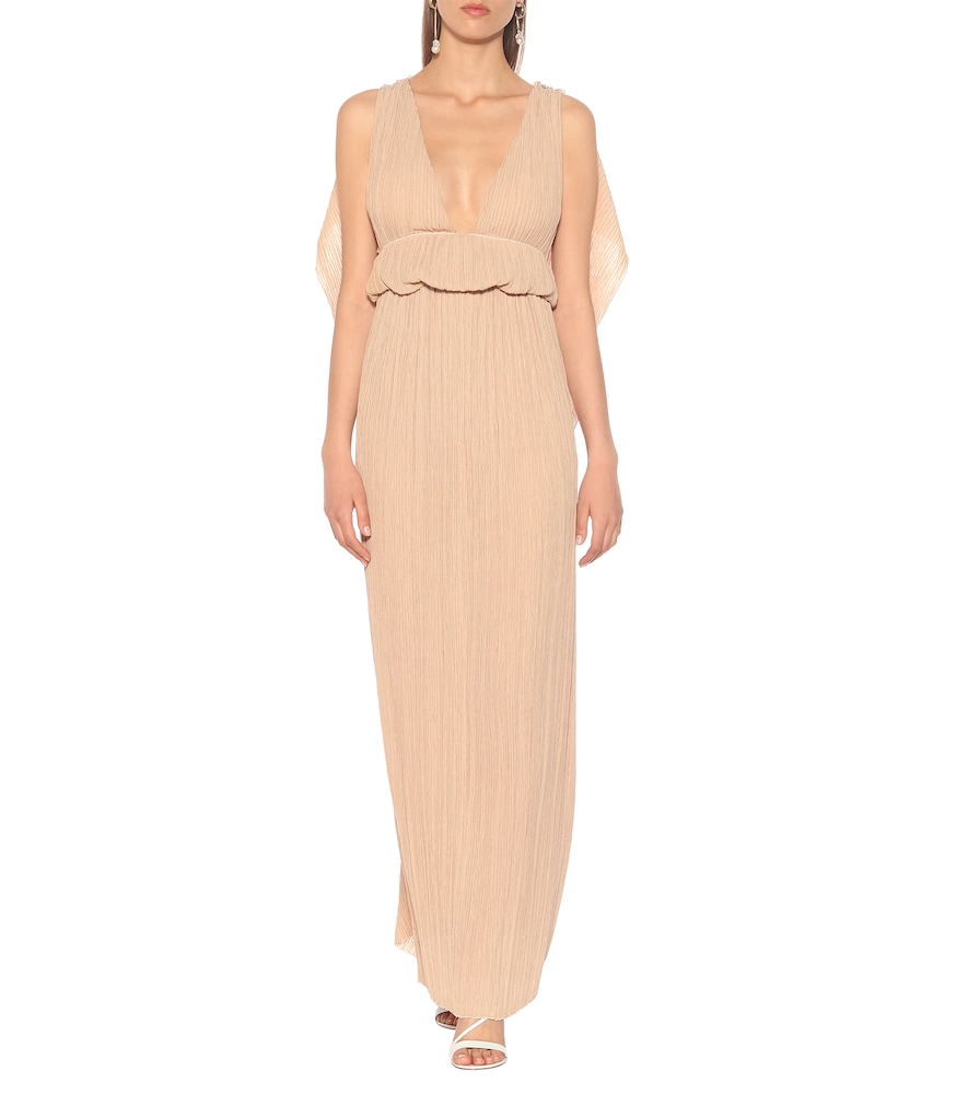 Grecian pleated crêpon gown by Chloé