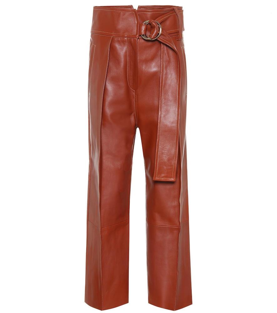 Pantalon Haena à taille haute en cuir