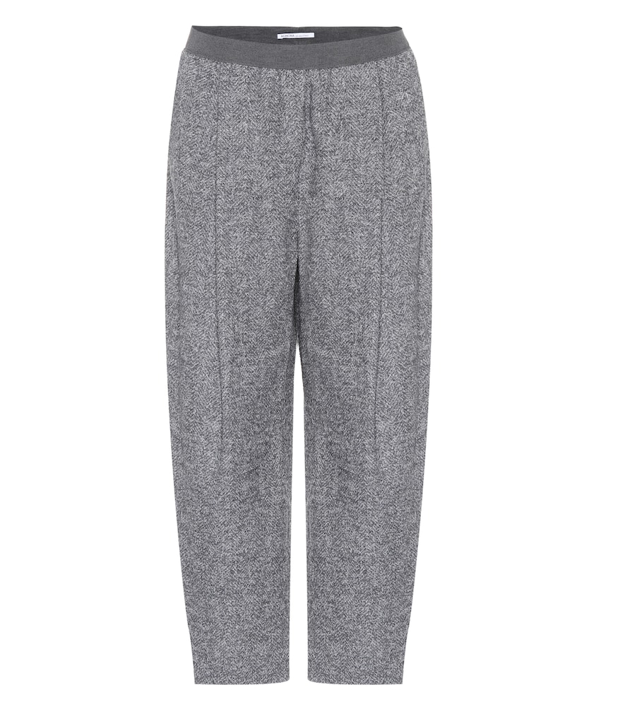 Cropped alpaca-blend trousers