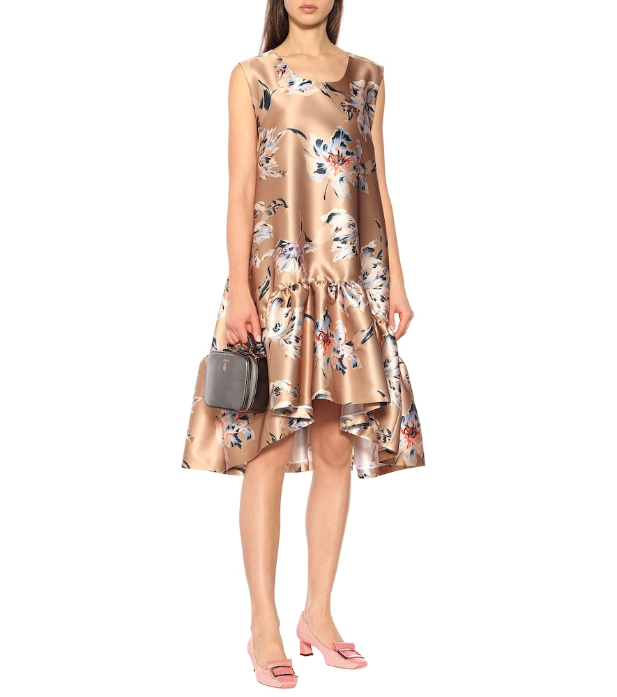 Floral satin dress by Rochas