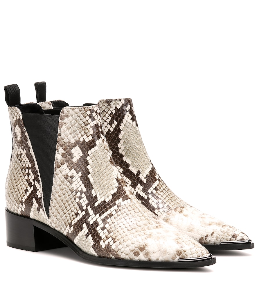 Acne Studios Jensen Leather Ankle Boots In Beige