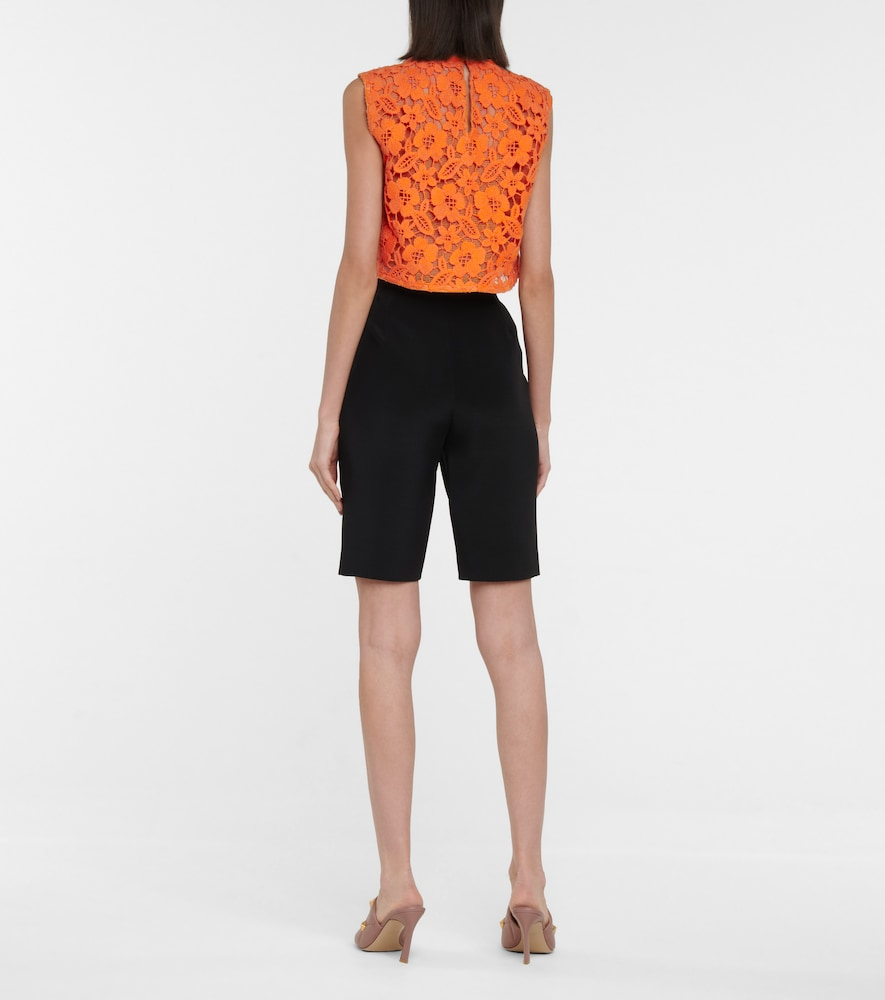 VALENTINO Tops GUIPURE LACE CROP TOP