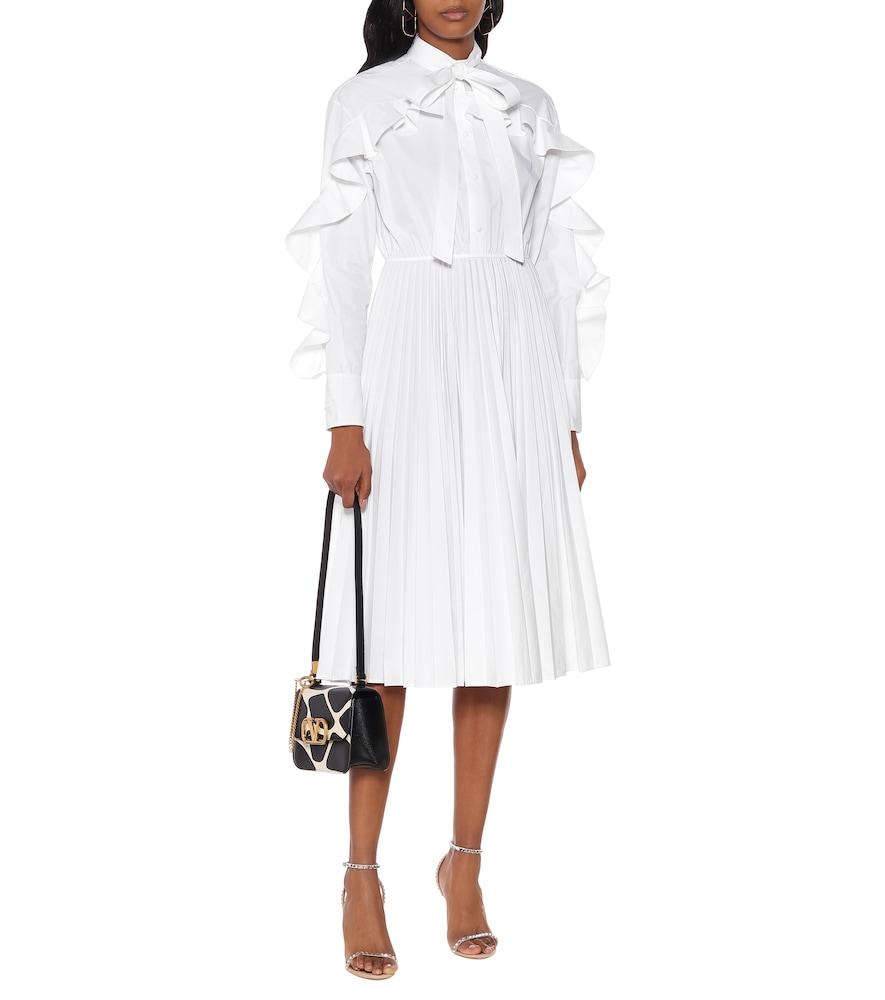 Ruffled cotton-blend midi dress by Valentino