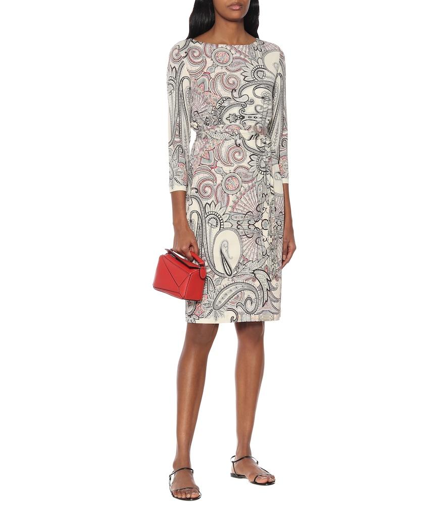 Paisley-print crêpe dress by Etro
