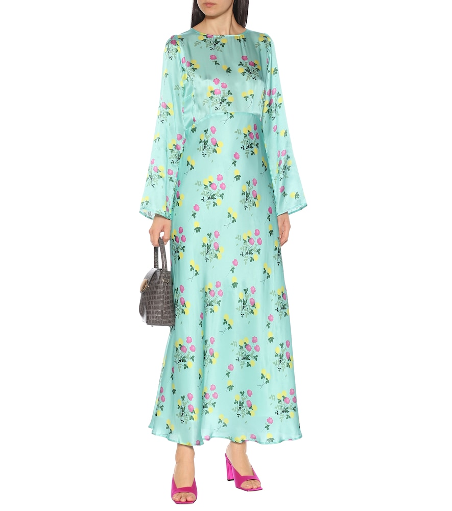Jane floral silk-satin maxi dress by Bernadette