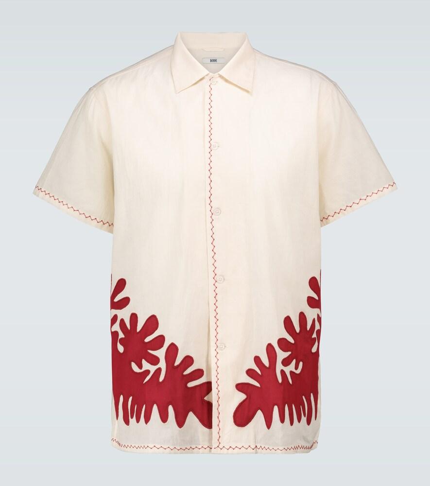 Chemise en coton à appliqués