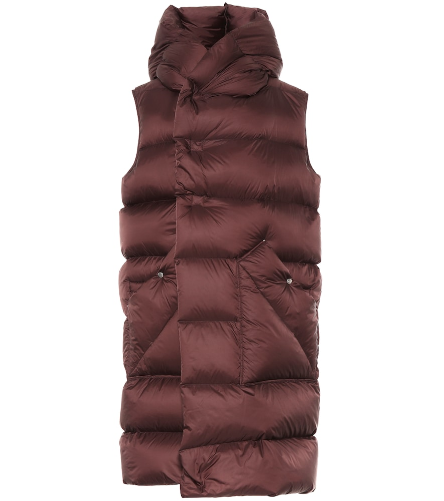 Liner sleeveless down puffer coat