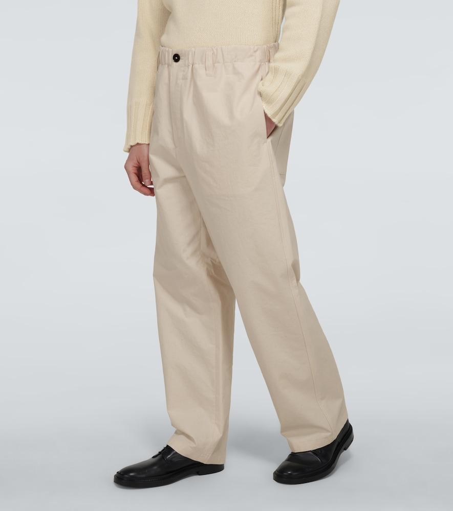 JIL SANDER Cottons WIDE-LEG COTTON PANTS