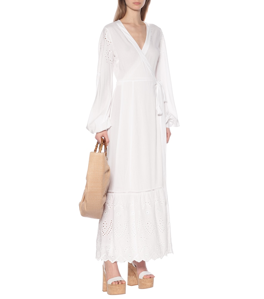 Kate embroidered maxi wrap dress by The Upside