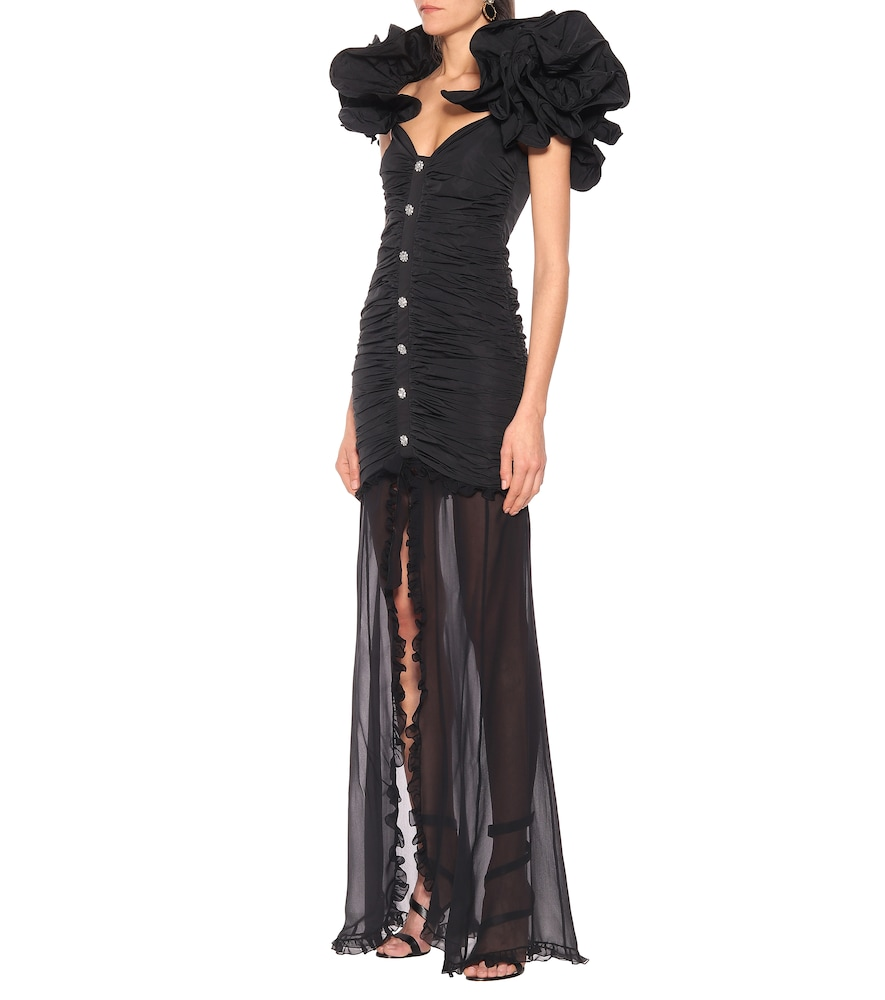 Taffeta maxi dress by Alessandra Rich