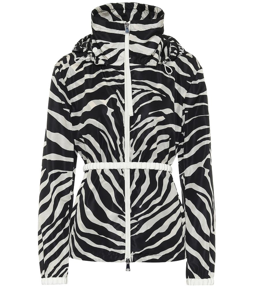 Zebra-print technical jacket