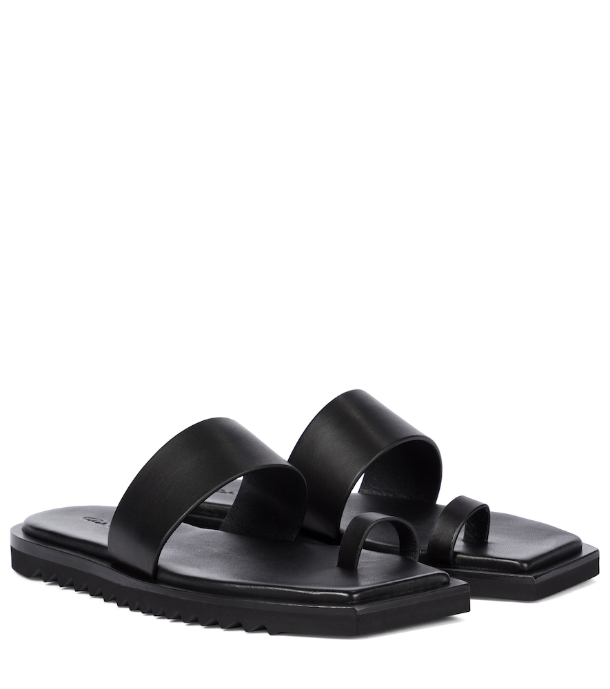 Rick Owens SMALL BEVEL LEATHER SANDALS