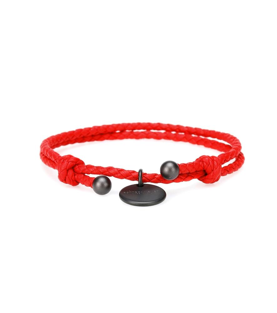 BOTTEGA VENETA | Intrecciato Leather Bracelet | Goxip
