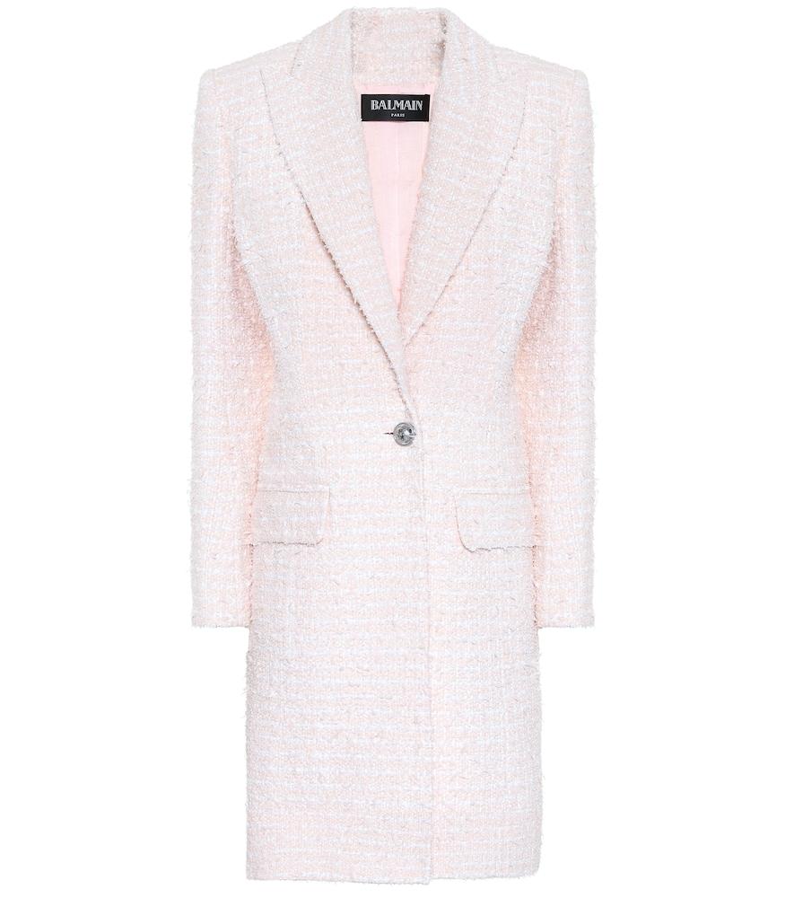 Single-breasted tweed coat by Balmain