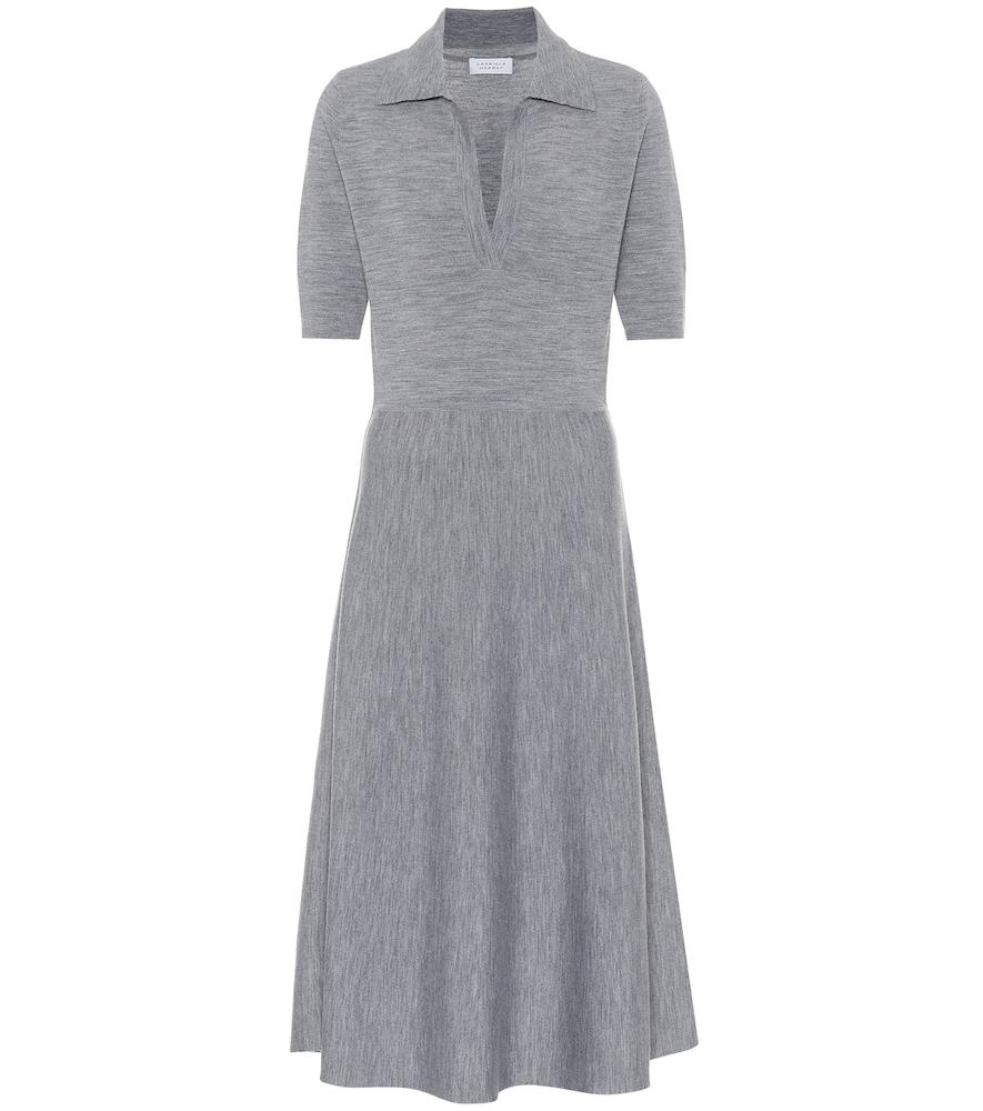 Bourgeois wool-blend midi dress by Gabriela Hearst