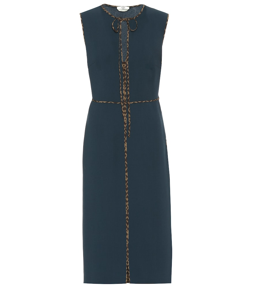 Fendi Dress VIRGIN WOOL CRÊPE MIDI DRESS