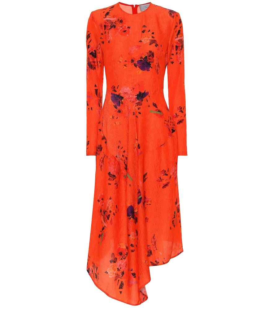 Preen By Thornton Bregazzi MARCELLO FLORAL SILK DRESS