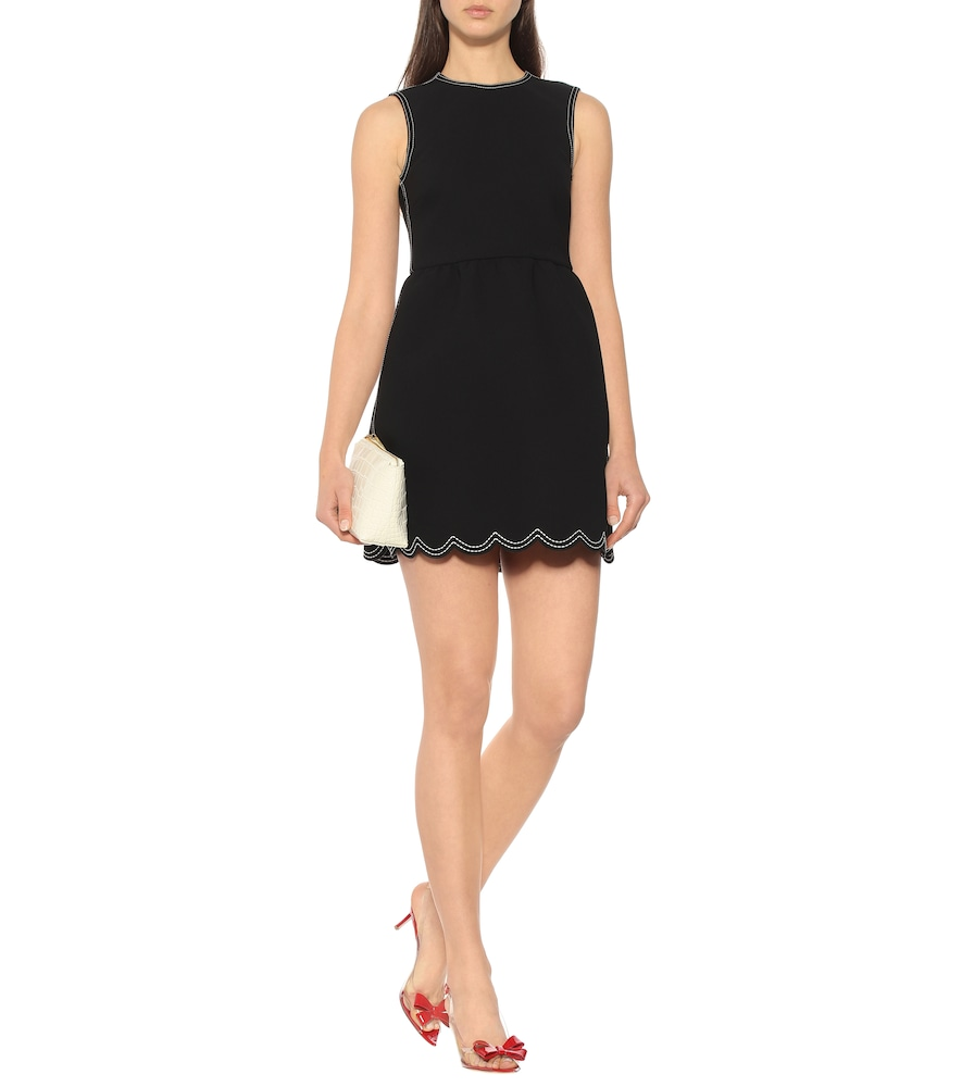 Scalloped minidress by REDValentino