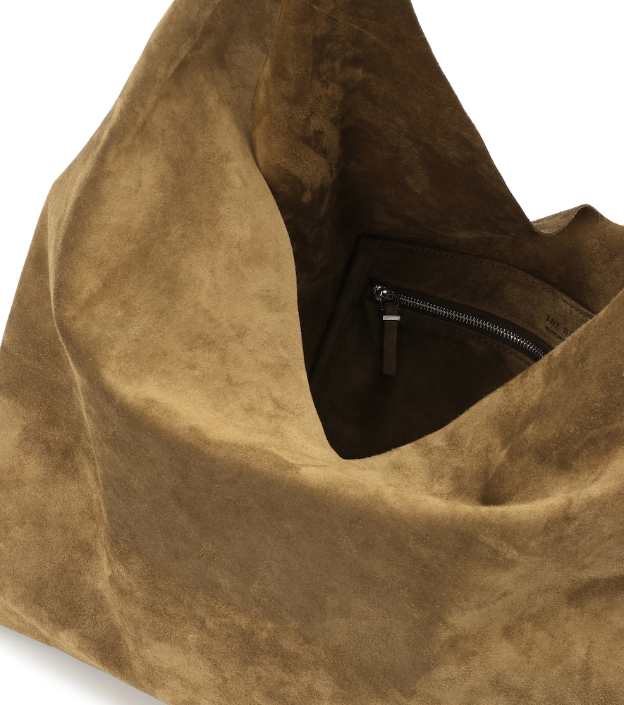 76256887ab4f The Row Bindle Double-Knot Suede Shoulder Bag - Olive In Brown ...