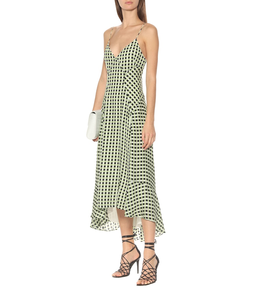 Checked georgette midi dress by Proenza Schouler