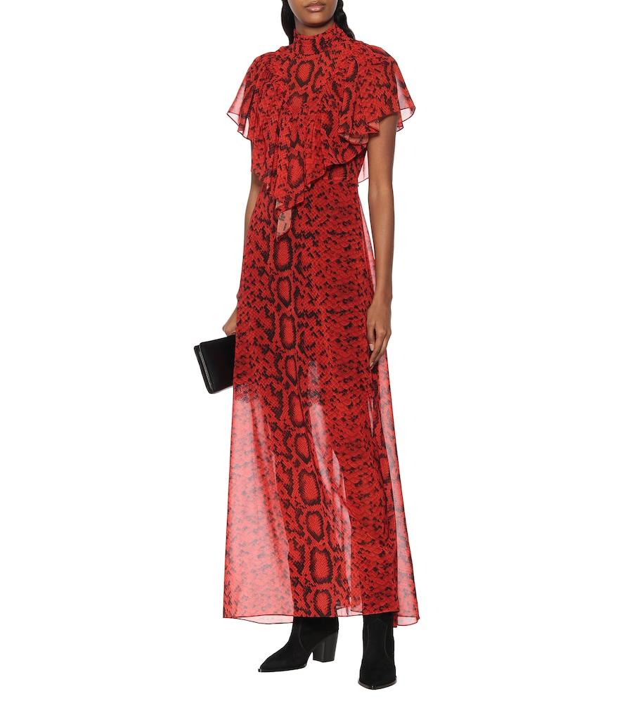 Kim georgette maxi dress by Preen by Thornton Bregazzi