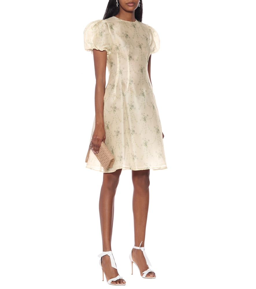 Quanecia floral silk dress by Brock Collection