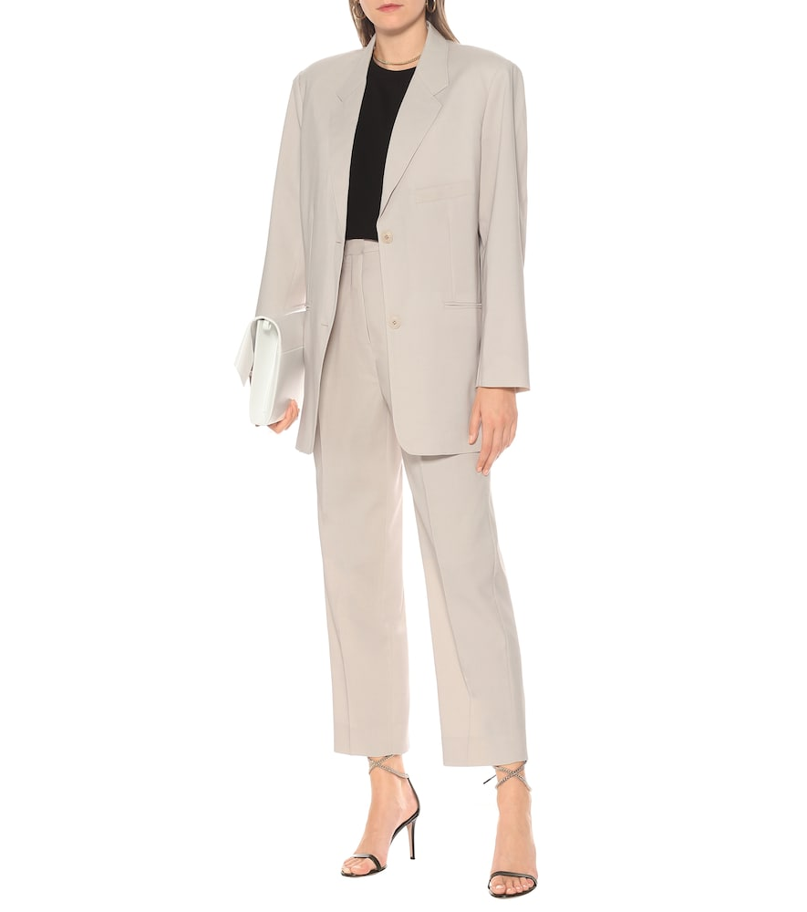 Pernille single-breasted crêpe blazer by Frankie Shop