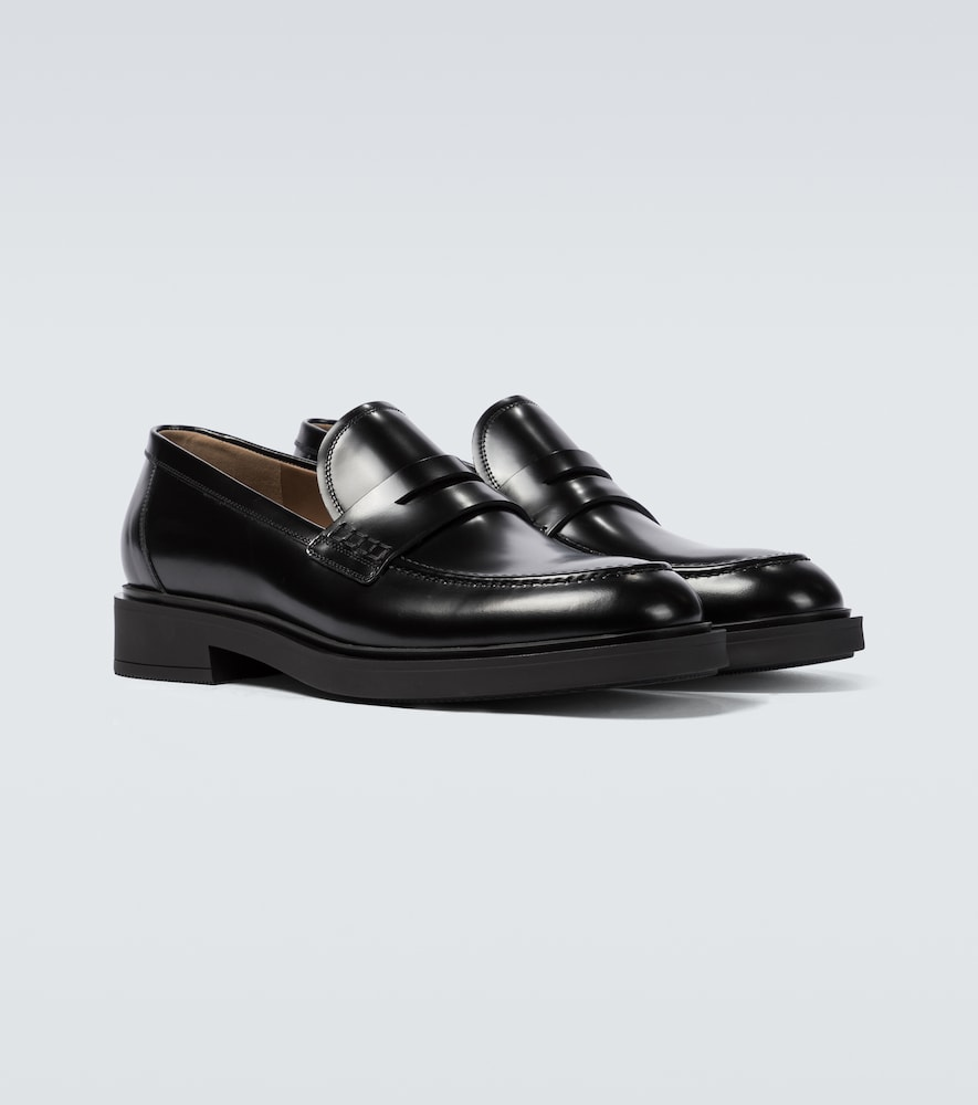 GIANVITO ROSSI Leathers HARRIS LEATHER LOAFERS