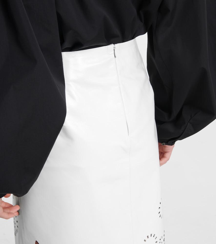 DRIES VAN NOTEN Skirts LASER-CUT LEATHER MIDI SKIRT