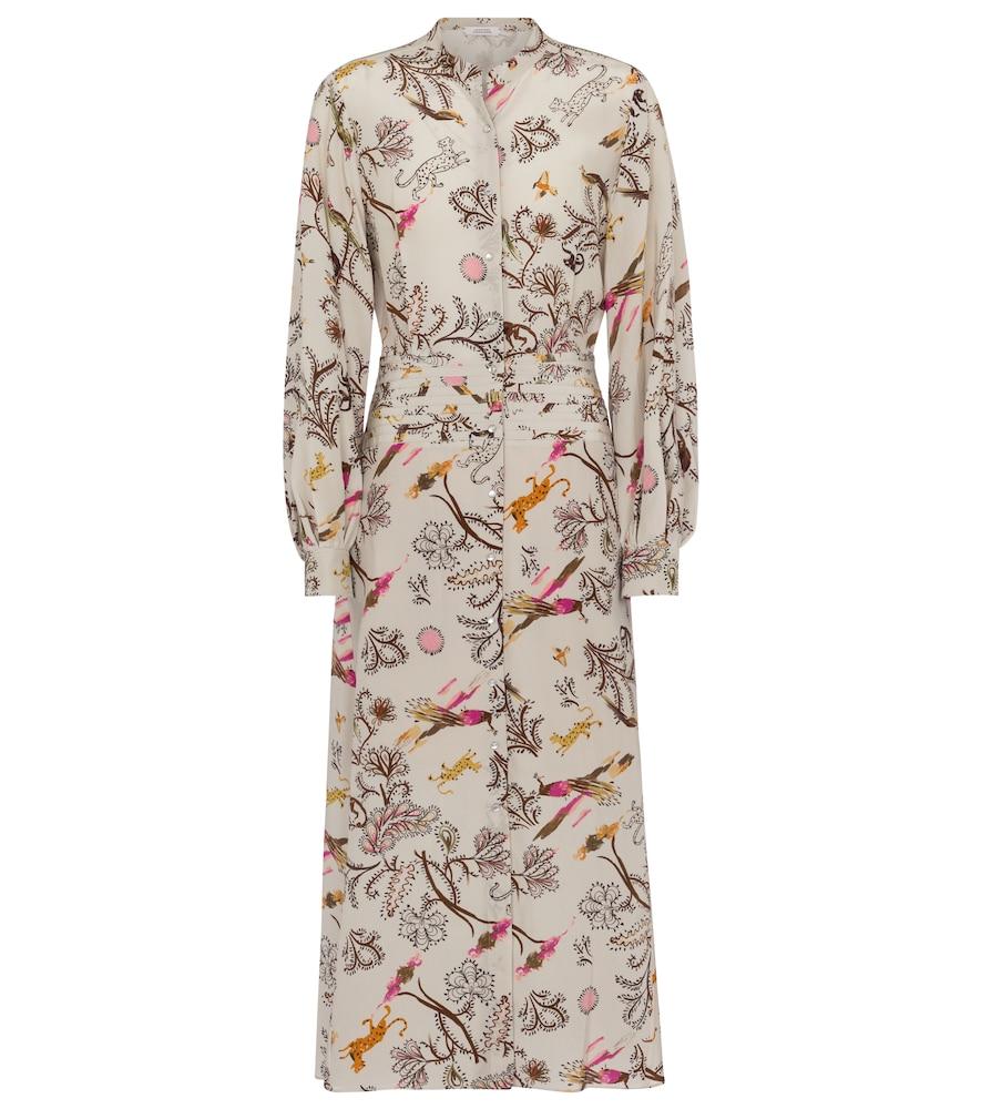 Dorothee Schumacher Clothing TREE OF LIFE PRINTED SILK SHIRT DRESS