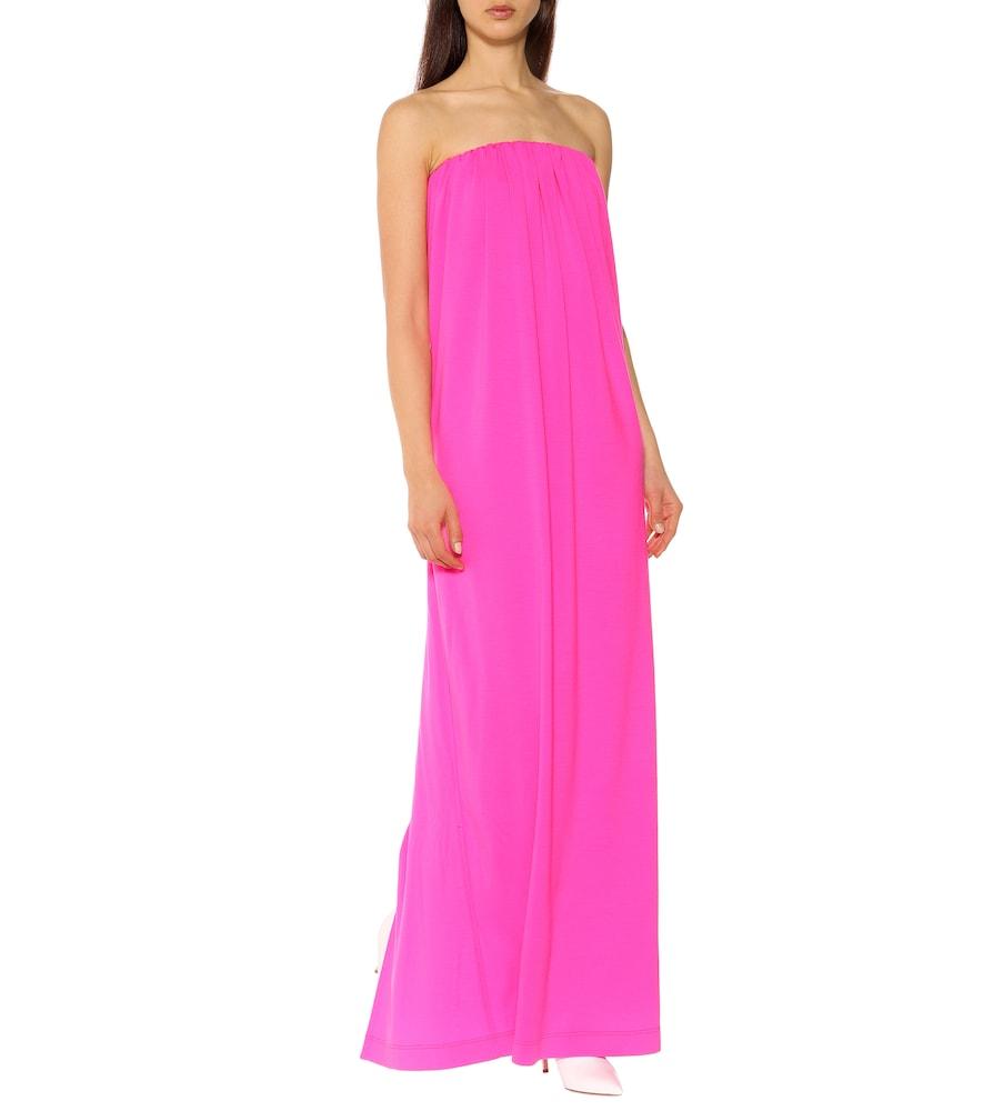 Wool strapless column gown by Calvin Klein 205W39NYC
