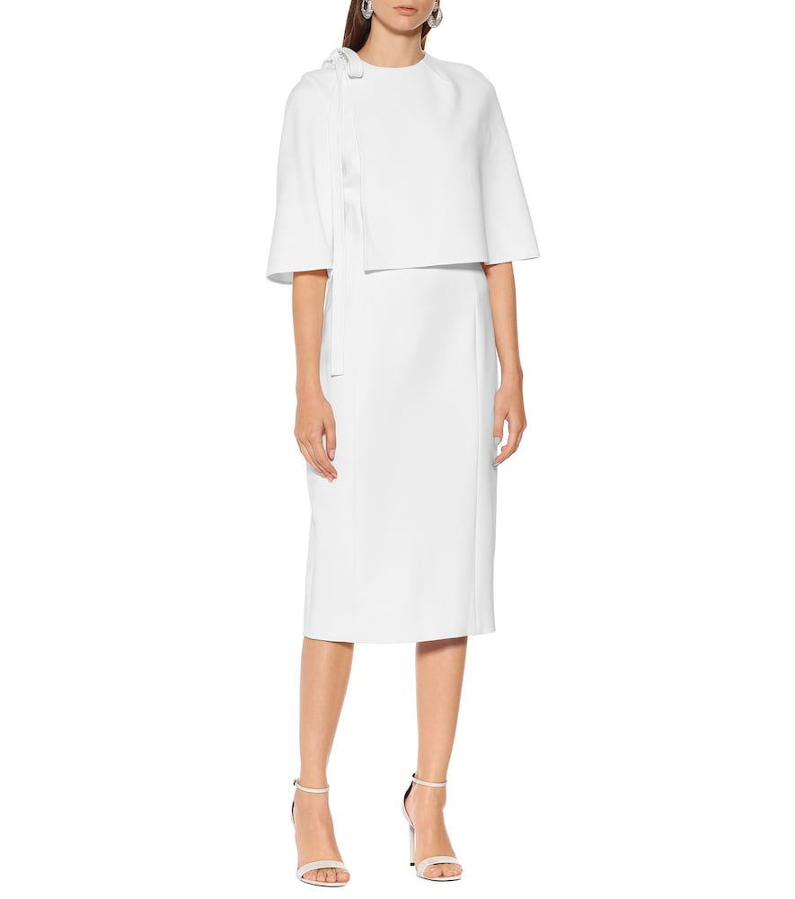Wool-cr?e midi dress by Oscar de la Renta