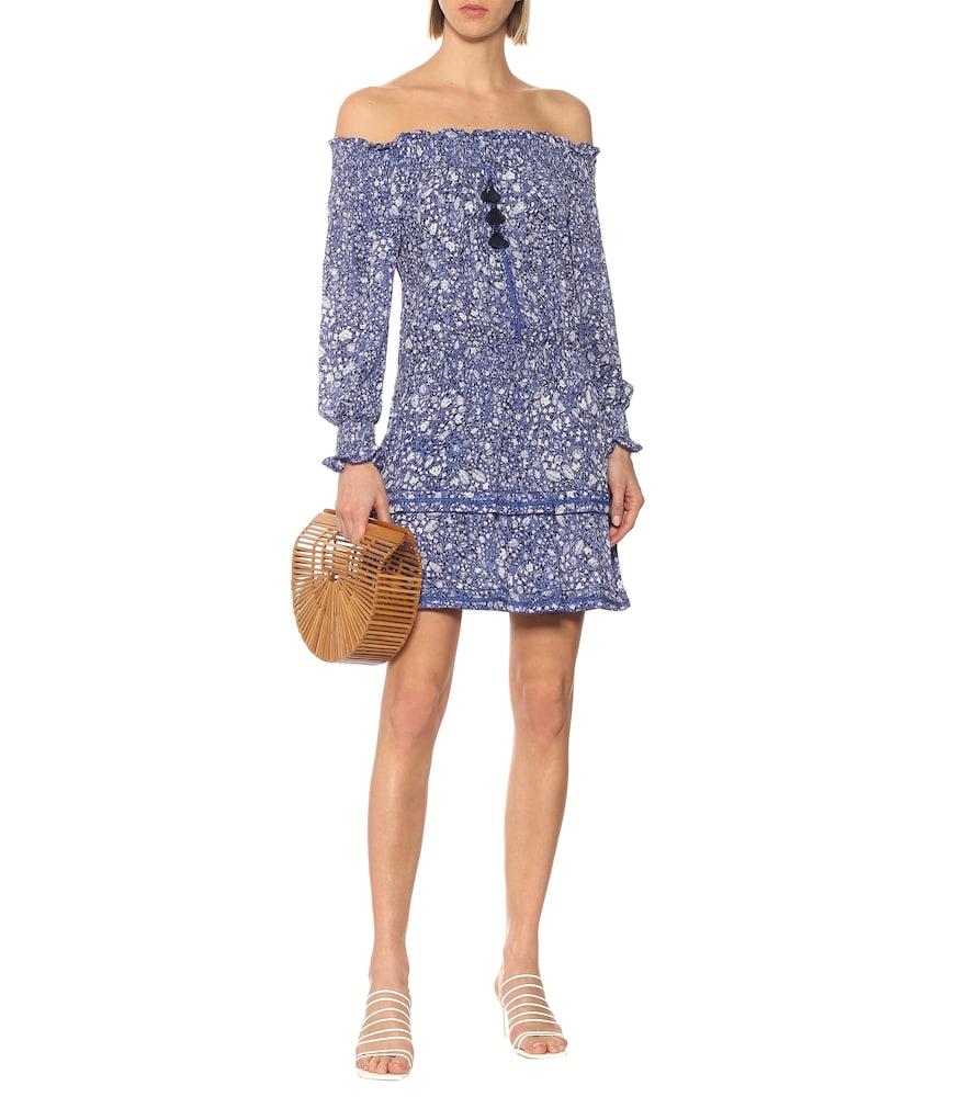 Sylvia floral off-shoulder minidress by Poupette St Barth