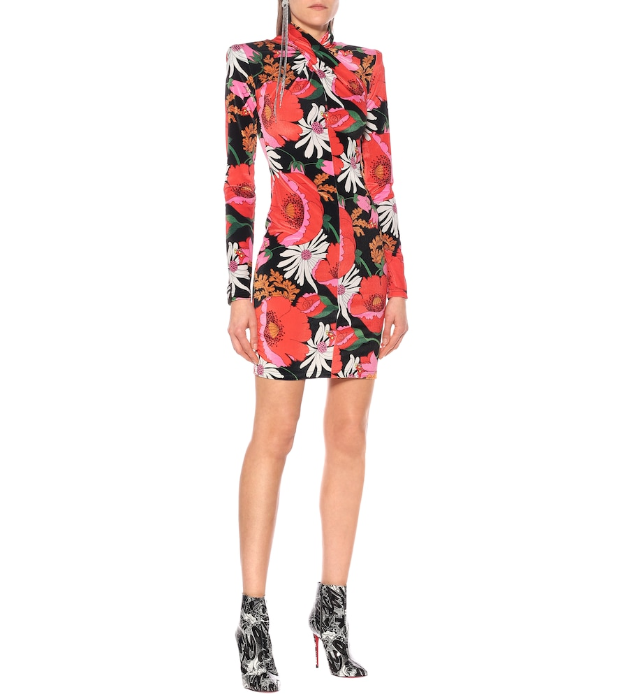 Floral velour minidress by Richard Quinn