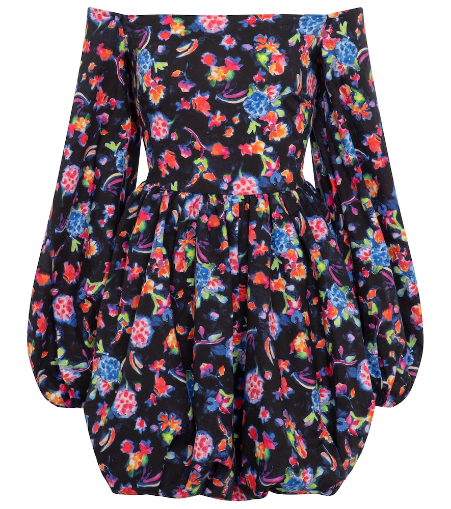 Georgina floral cotton-blend minidress by Caroline Constas