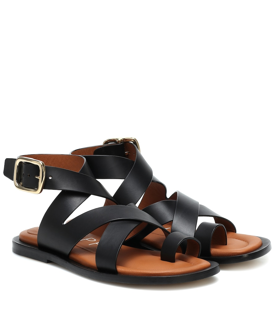 Joseph Leather Sandals In Black