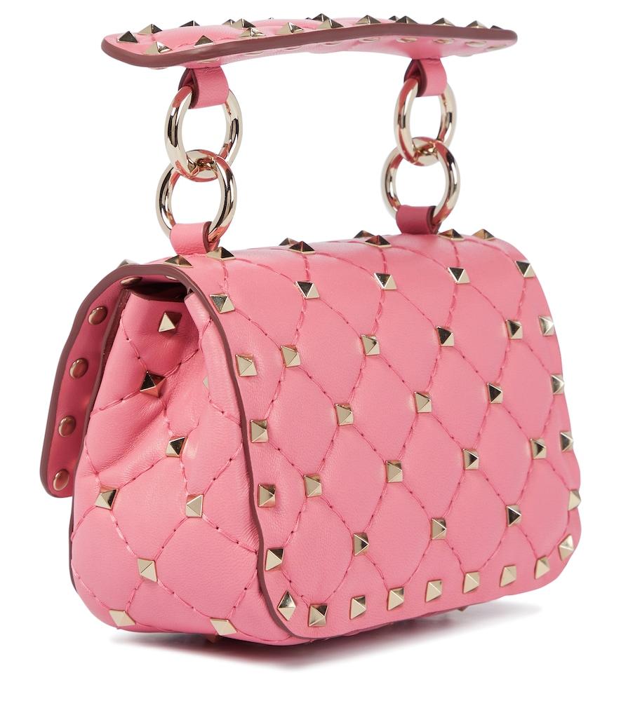 VALENTINO Leathers Valentino Garavani Rockstud Spike Micro leather crossbody bag