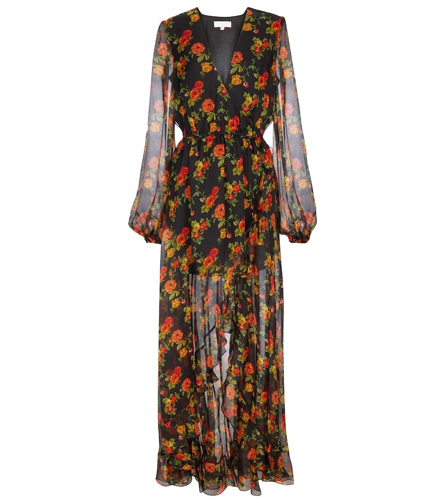 Liv floral silk chiffon maxi dress