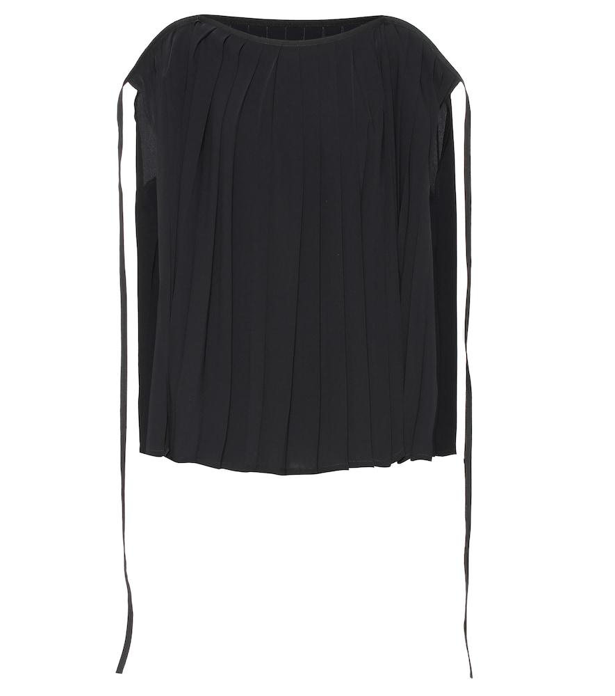 MM6 Maison Margiela Pleated cape top