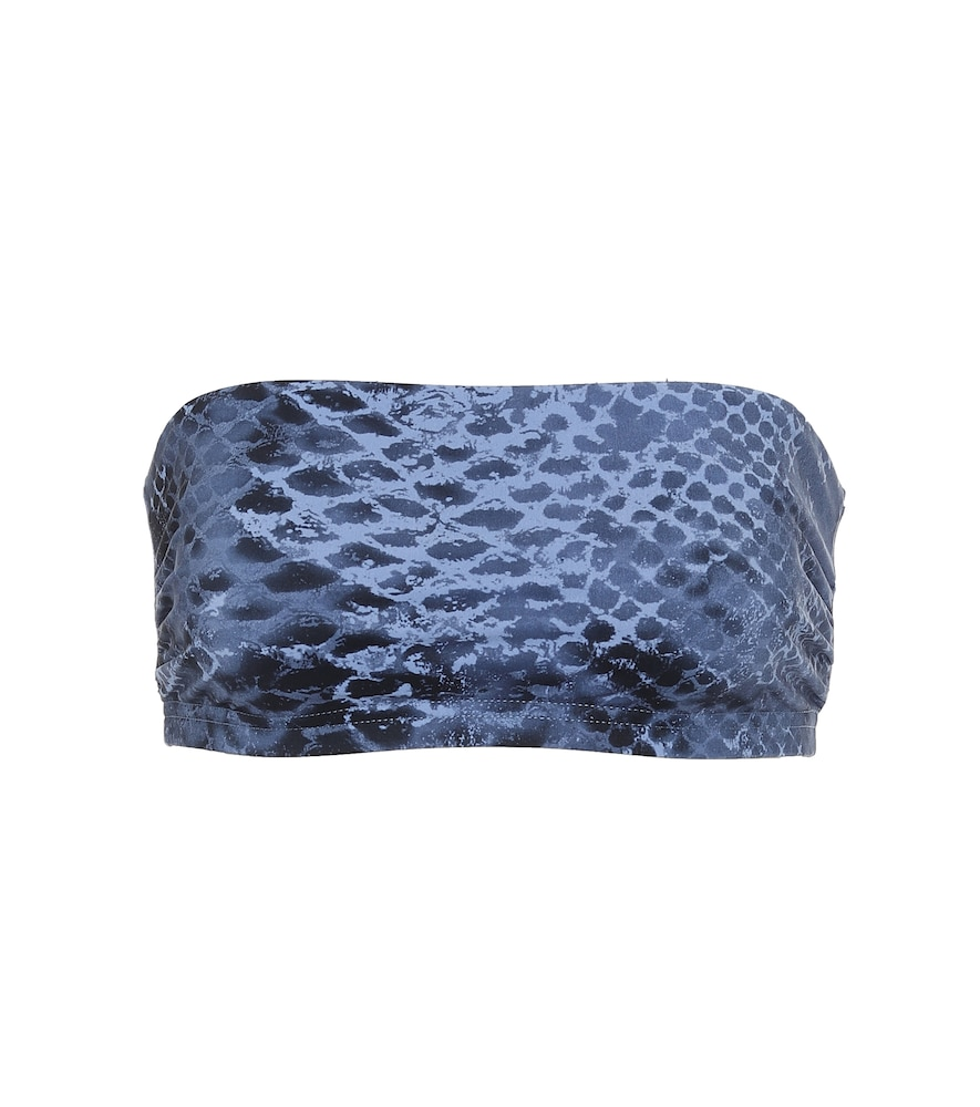 Bree snakeskin-print bandeau bikini top