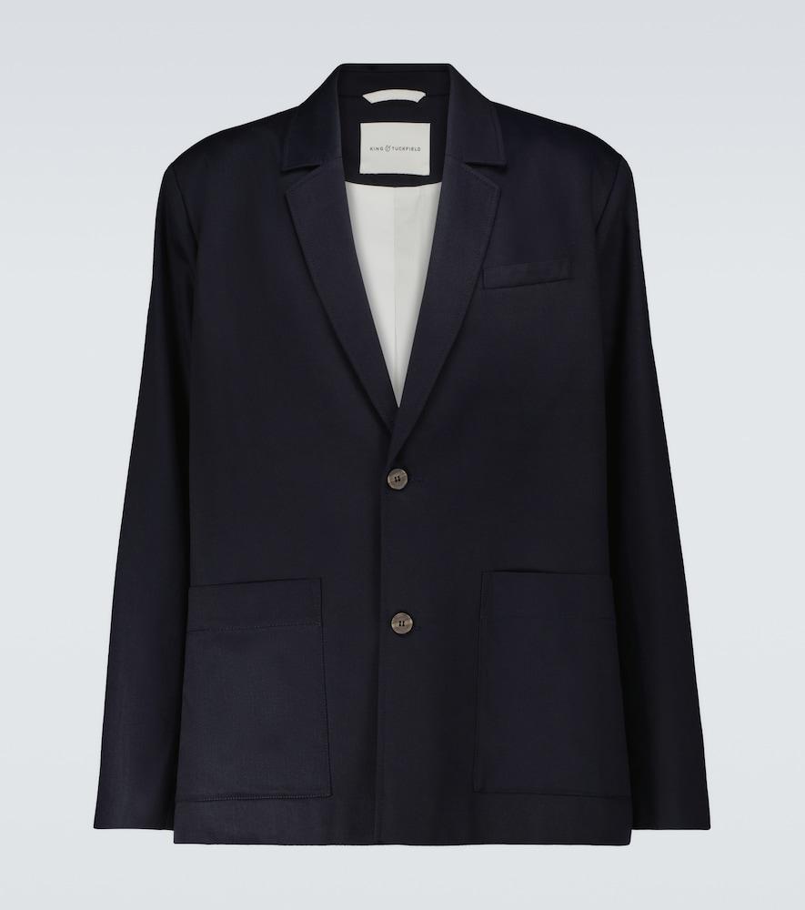 Single-breasted side vent blazer