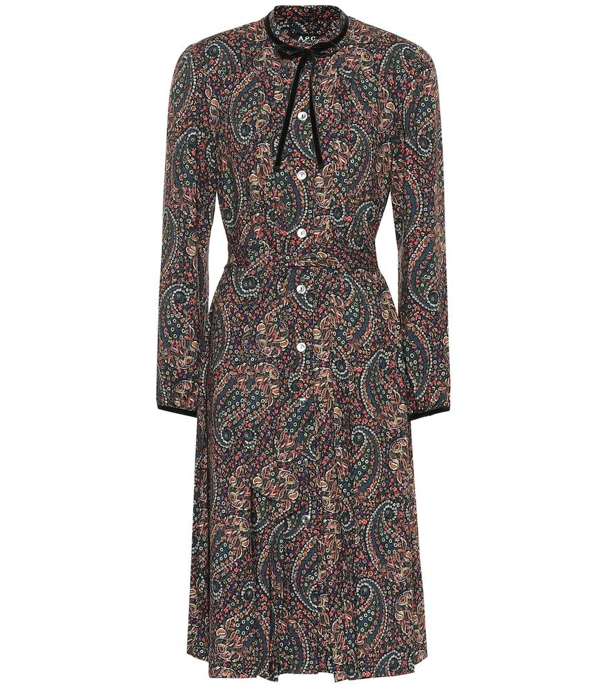Nola Printed Twill Dress, Multicoloured