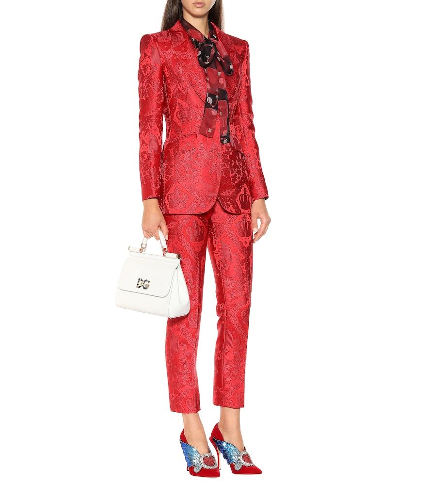 Lori embellished velvet pumps by Dolce & Gabbana