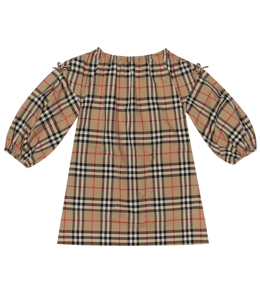 Burberry Girls' Alenka Check Dress - Little Kid, Big Kid In Beige
