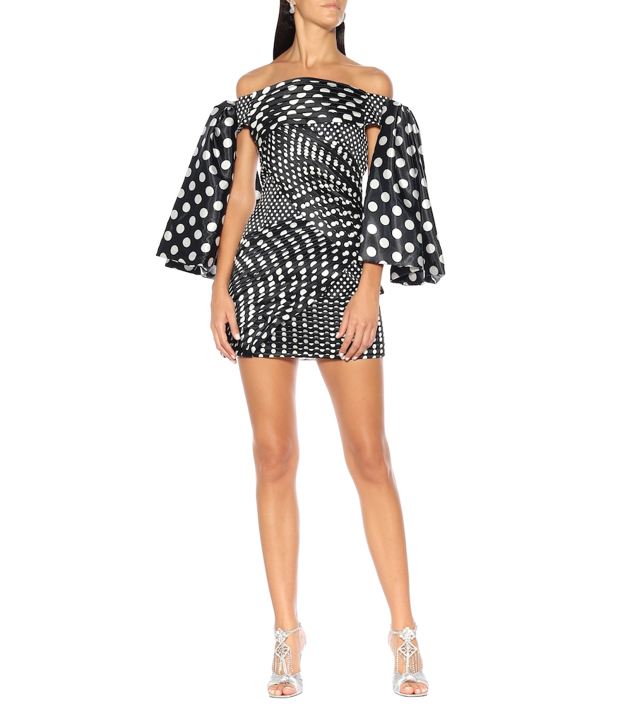 Polka-dot duchess-satin minidress by Richard Quinn