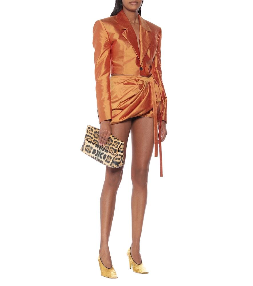 Cropped silk-shantung blazer by Y/PROJECT
