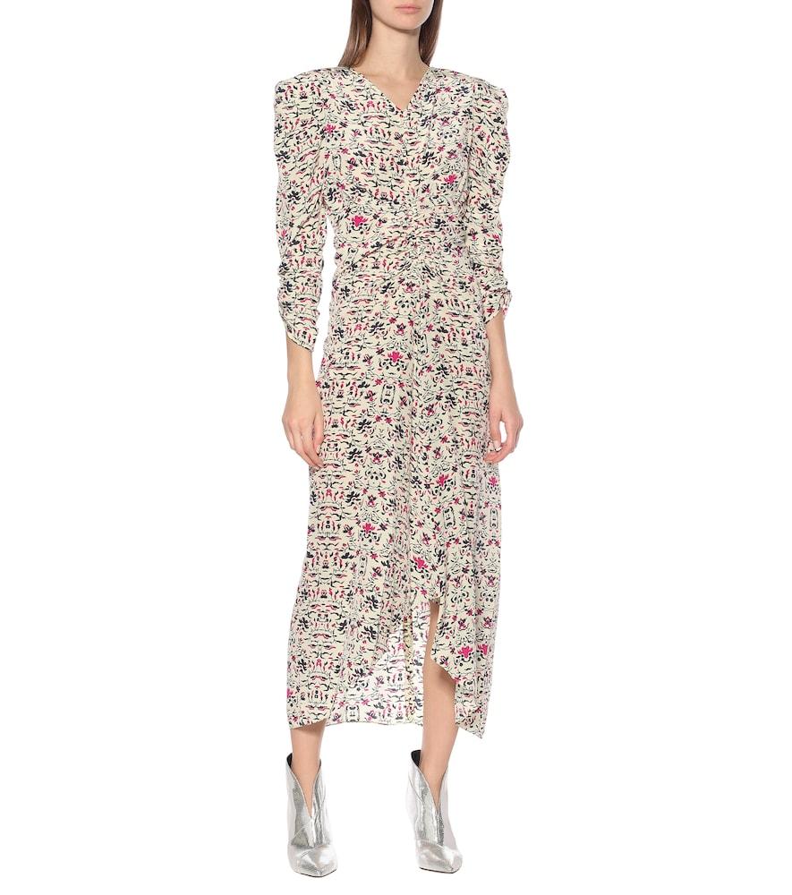 Albi floral silk midi dress by Isabel Marant