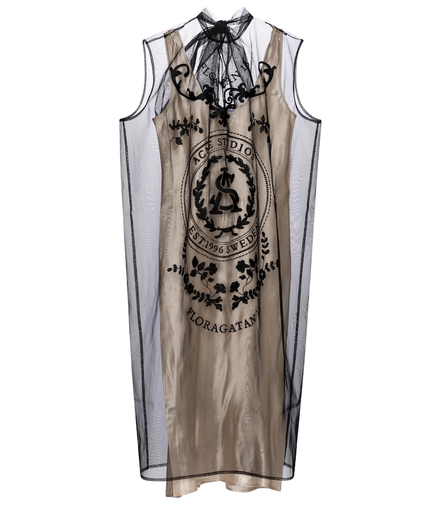 Embroidered tulle minidress by Acne Studios
