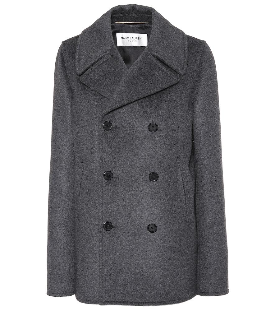 Wool, Angora And Cashgora Coat in Grey
