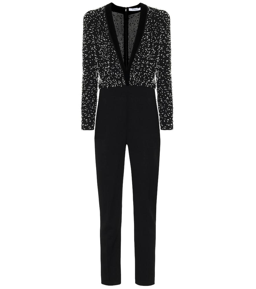 Combi-pantalon en laine à ornements - Givenchy - Modalova